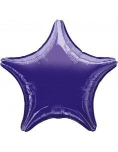 Globo Estrella 45cm Purpura - Foil Poliamida - A3059702