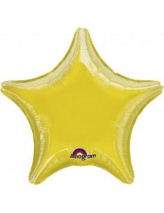 Globo Estrella 45cm Amarillo - Foil Poliamida - A0455202