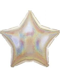Globo Estrella 45cm Plata Deslumbrante - Foil Poliamida - A112282902