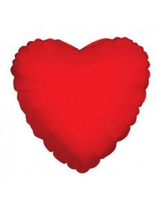 Globo Corazon 22cm Rojo - Foil Poliamida - K3411009