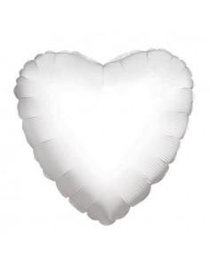 Globo Corazon 45cm Blanco - Foil Poliamida - K3410218