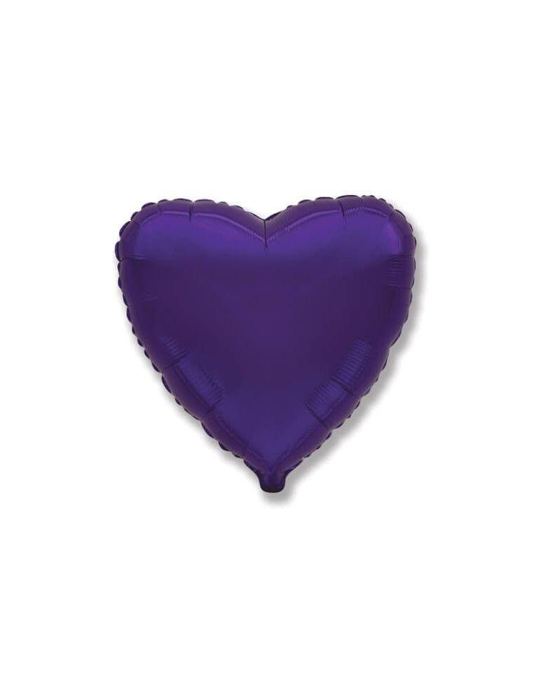 Globo Corazon 78cm Violeta - Foil Poliamida - F206500L