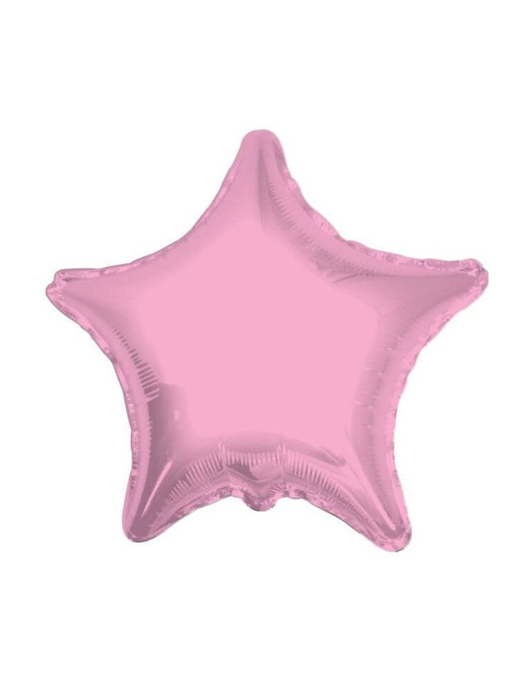 Globo Estrella 10cm Rosa Baby - Foil Poliamida - K3402004