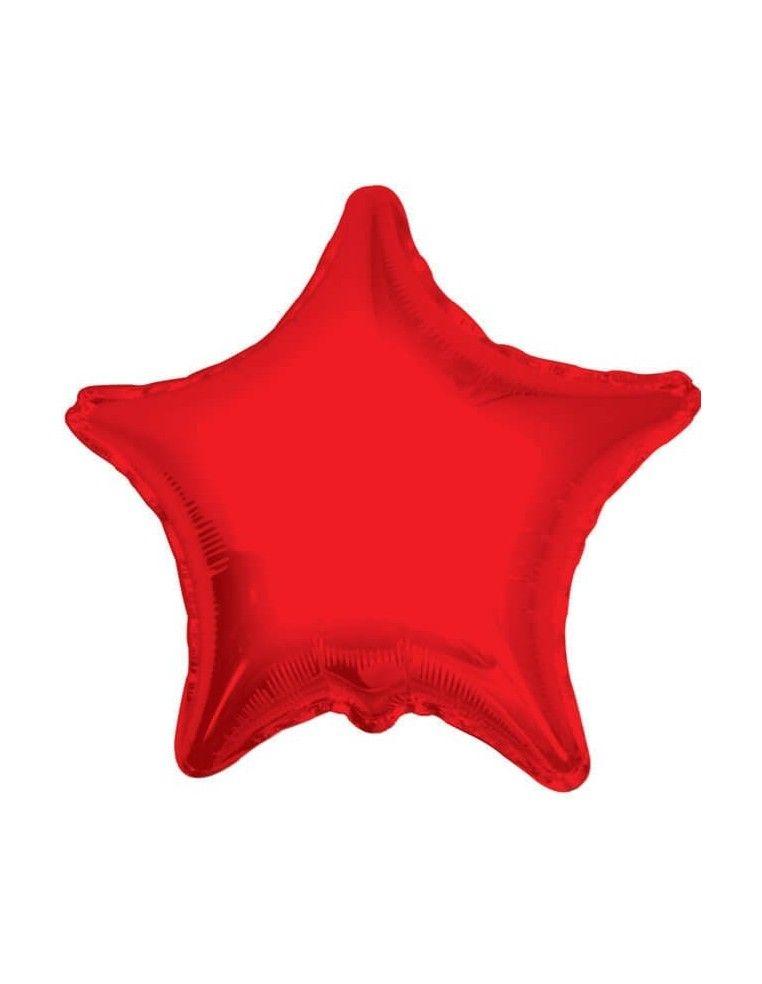 Globo Estrella 22cm Rojo - Foil Poliamida - K17350