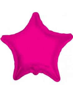 Globo Estrella 22cm Rosa Hot - Foil Poliamida - K3407409