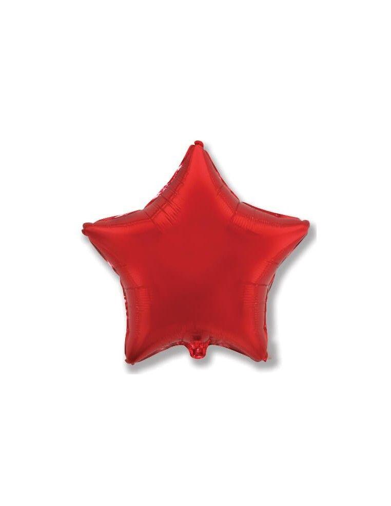 Globo Estrella 23cm Rojo - Foil Poliamida - F302500R