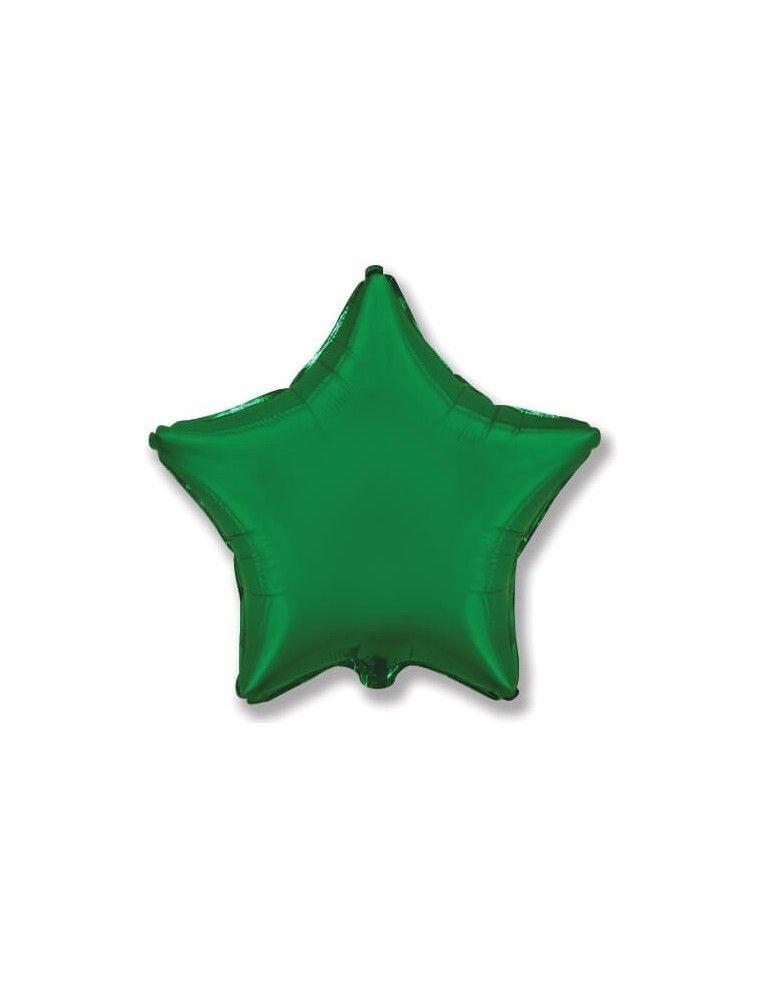 Globo Estrella 48cm Verde Esmeralda - Foil Poliamida - F301500VE