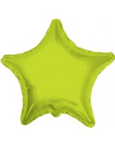 Globo Estrella 91cm Verde Lima - Foil Poliamida - K3402236