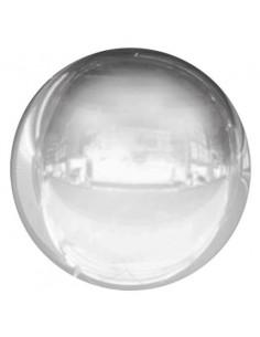 Globo Esferico 18cm Plata - Foil Poliamida - S2428
