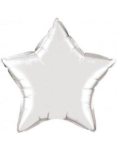 Globo Estrella 50cm Silver - Foil Poliamida - Q12630