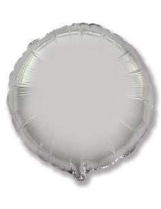 Globo Redondo 48cm Plata - Foil Poliamida - F401500P