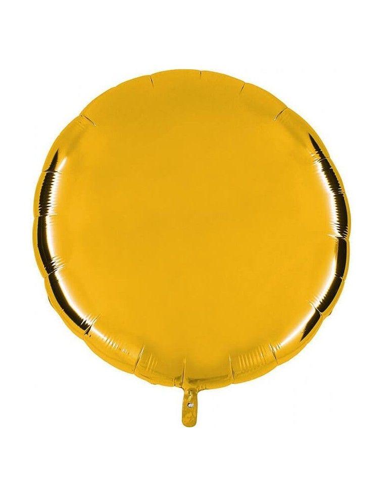 Globo Redondo 91cm Oro Claro - Foil Poliamida - G36012G5