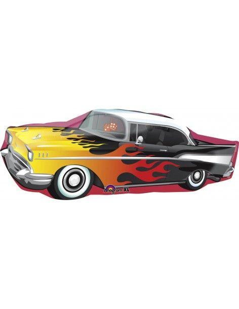 Globo 50s Rockining Car - Forma 33x88cm Foil Poliamida -A2746101-02