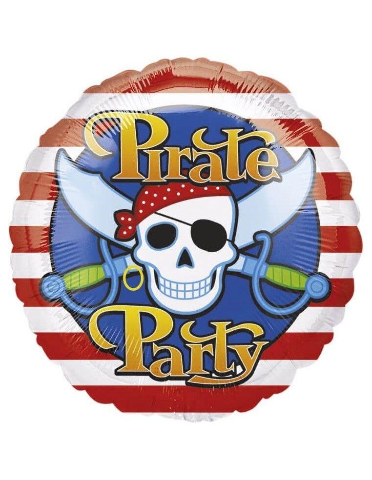 Globo Pirate Party - Redondo 45cm Foil Poliamida - A11822101