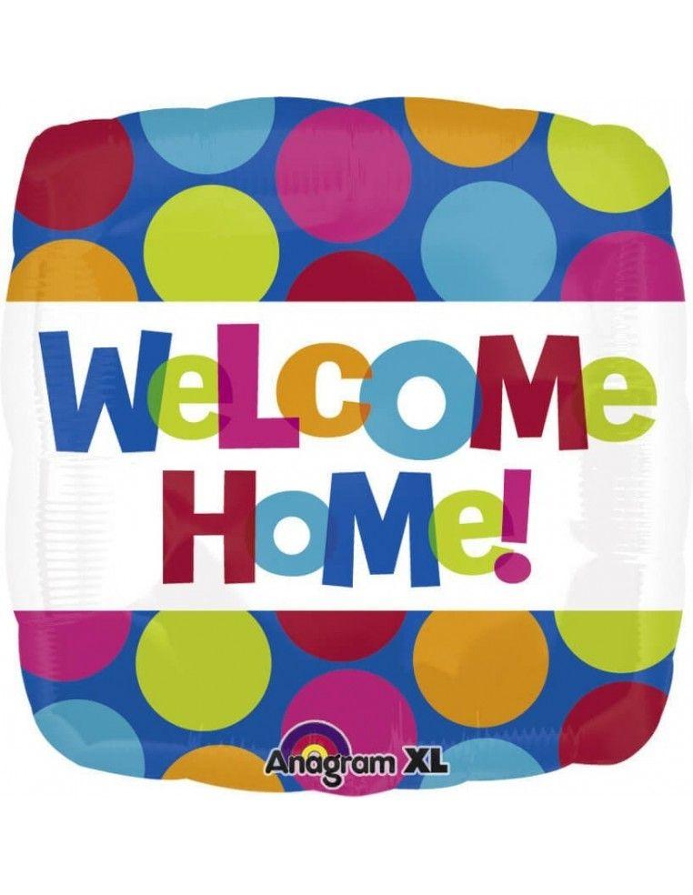 Globo Welcome Home - Cuadrado 45cm Foil Poliamida - A2479301