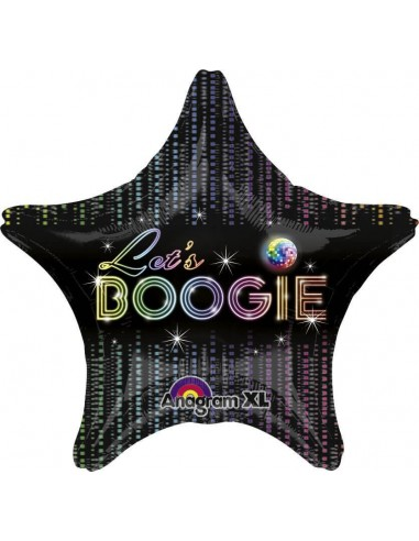 Globo 70s Disco Fever - Estrella 48cm Foil Poliamida - A2745801