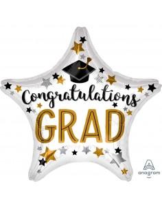 Globo Congratulations Grad Estrella 45cm