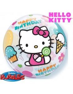 Globo Hello Kitty Birthday - Bubble Burbuja 55cm - Q12865