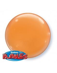 Globo Orange - Bubble Burbuja Solido 38cm - Q21339 - 4 UDS