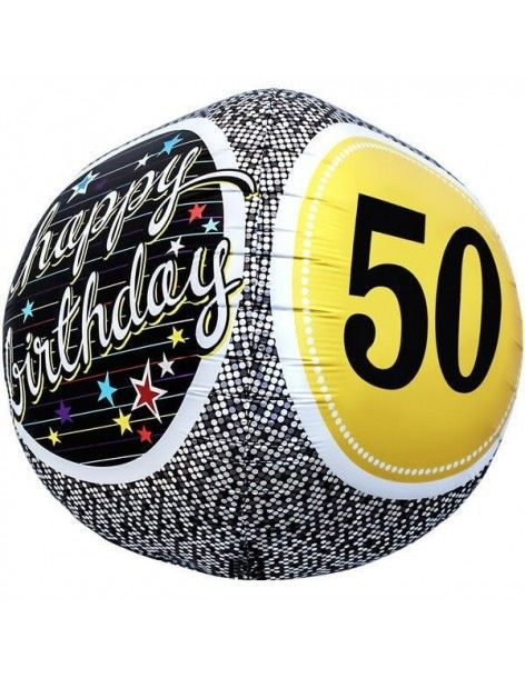 Globo 50th Birthday - Esferico 43cm Foil Poliamida - NSB01153