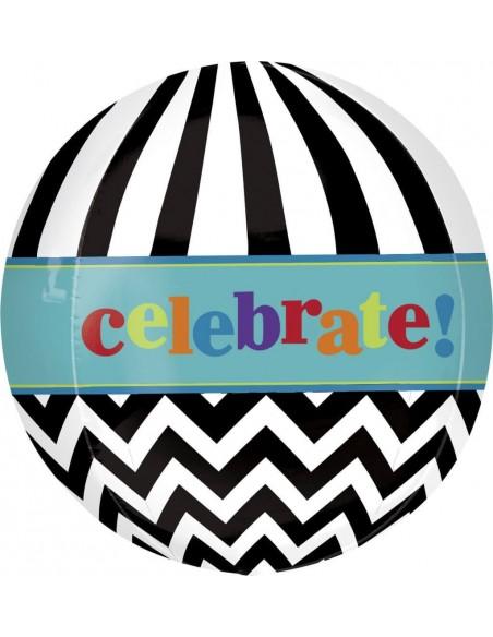 Globo Dancing Lines Birthday Esferico 43cm ORBZ A2833401