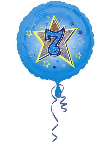 Globo Blue Stars 7 - Redondo 45cm Foil Poliamida - A2953801