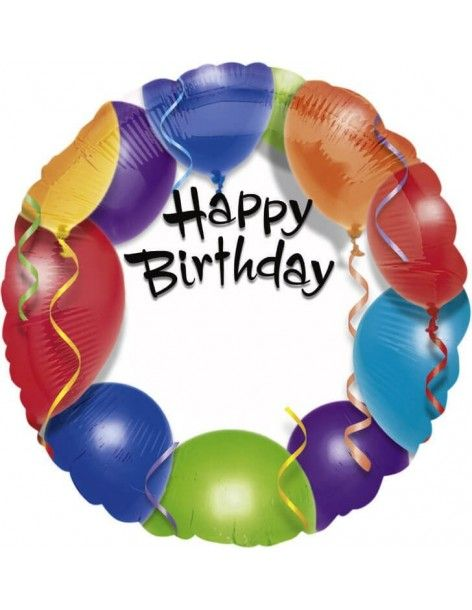 Globo Happy Birthday Balloon Personalised Redondo 45cm A1579101