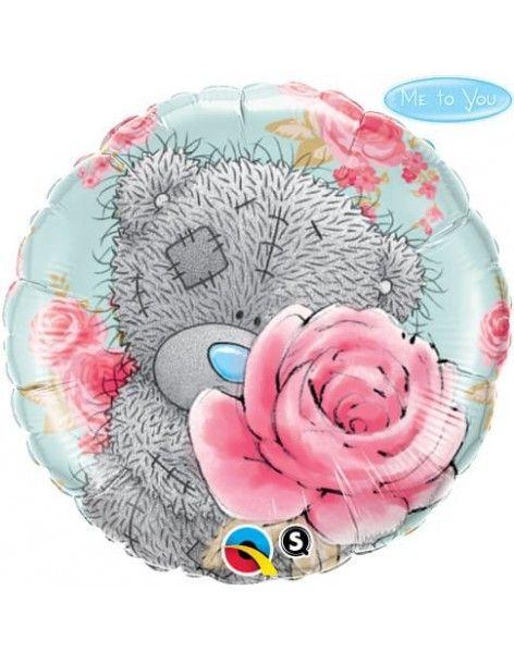 Globo Me To You Tatty Teddy Birthday Roses Redondo 45cm Q20760