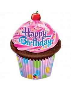 Globo Birthday Frosted Cupcake Mini Forma 35cm Foil Poliamida Q32935