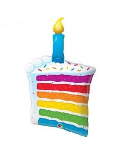 Globo Rainbow Cake & Candle Forma 106cm