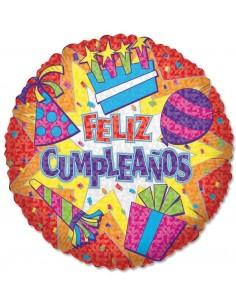 Globo Feliz Cumpleaños Pary - Redondo 45cm Foil Poliamida - K1745718