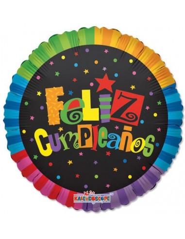 Globo Feliz Cumpleaños Jazzy - Redondo 45cm Foil Poliamida - K1902318