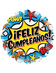 Globos Feliz Cumpleaños Comic 45cm