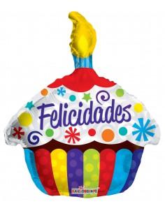 Globos Felicidades Cupcake 45cm