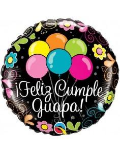 Globo Feliz Cumpleaños Guapa Redondo 45cm