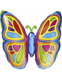 Globo Bright Butterfly - Forma 63x63cm Foil Poliamida -A0725401