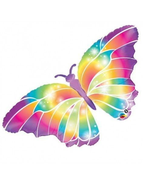 Globo Luminous Butterfly - Forma 112cm Foil Poliamida - Q11656