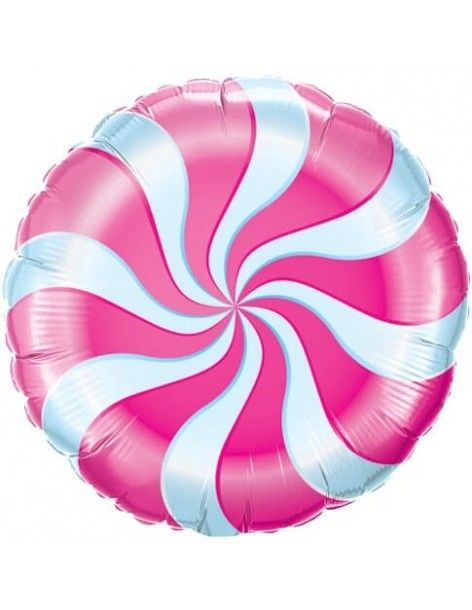 Globo Candy Swirl Magenta - Redondo 45cm Foil Poliamida - Q17355