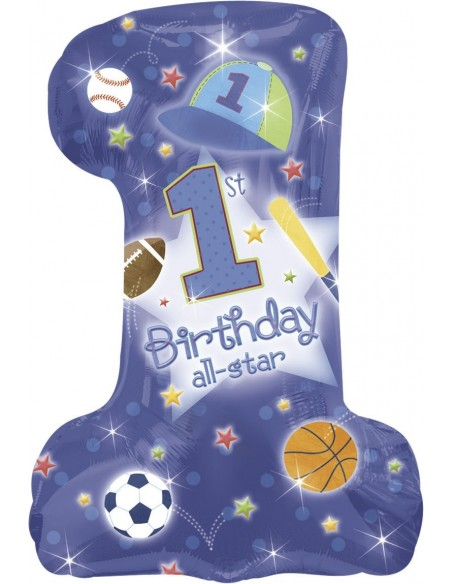 Globo First Birthday All-Star Forma 71x48cm Foil Poliamida -A11912801