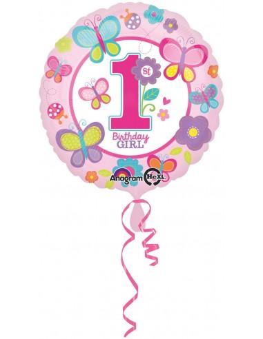 Globo Sweet Birthday Girl - Redondo 45cm Foil Poliamida - A2980301