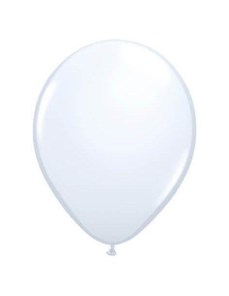 Globo Qualatex Redondo 13cm Pastel Blanco