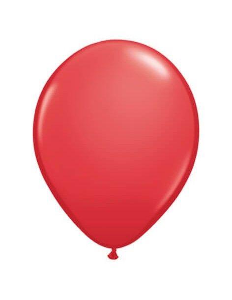 Globo Qualatex Redondo 28cm Pastel Rojo