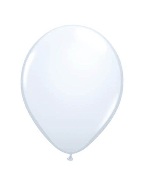 Globo Qualatex Redondo 28cm Pastel Blanco