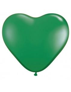 Globo Qualatex Corazon 15cm Pastel Verde