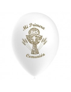 Globos Latex Redondos 30cm Comunion Blanco