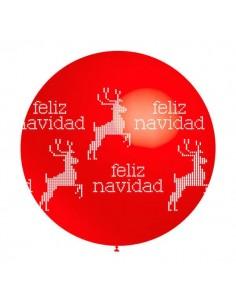 Globo Feliz Navidad Gigante 60cm Rojo