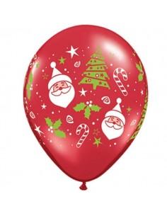 Globo Santa and Christmas Tree Redondo 28cm