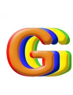 Globo PVC 35cm Letra G Surtido