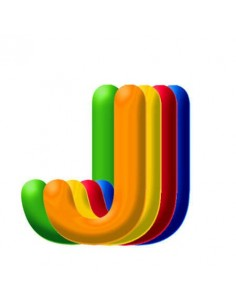 Globo PVC 35cm Letra J Surtido