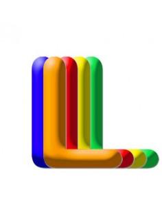 Globo PVC 35cm Letra L Surtido